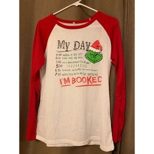 Tops - How The Grinch Stole Christmas Baseball T-shirt